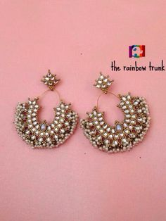 Gorgeous pearl chand balis: The Rainbow Trunk: Buy jewellry online