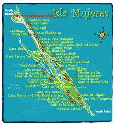 Hotel Map of Isla Mujeres