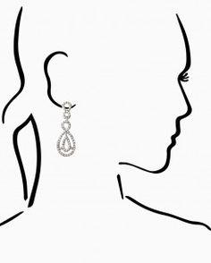 Rhinestone Infinity Link Earrings