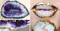 When NYC-based makeup artist Johannah Adams recently posted pictures of her incredible crystal lip creations, Instagram went absolutely crazy! From druzy quartz to amethyst slices, the lips look just dazzling.