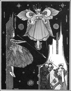 "Harry Clarke, illustration for ""The Sleeping Beauty"", from The Fairy Tales of Charles Perrault, 1922 (source)."