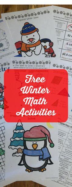 Free winter math activities- math resolutions, geometry, order of operations, number properties Winter Activities, Math Activities, Number Properties, Spiral Math, Order Of Operations, Math Strategies, 7th Grade Math, Secondary Math, Teacher Blogs
