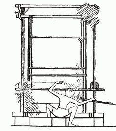 Ancient Egyptian Loom (Thanks, Mom, for teaching me to