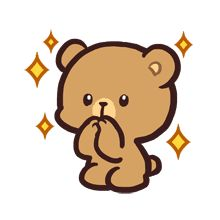 Mocha daily life emoji set is now here! Perfect for cool and calm one, just like Mocha! Cute Couple Cartoon, Cute Cartoon Pictures, Cute Love Cartoons, Cute Love Memes, Cute Love Gif, Cute Anime Character, Cute Characters, You Are My Moon, Cute Bear Drawings