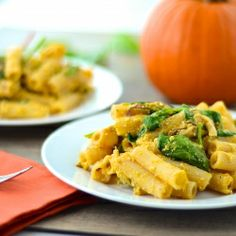 It's Pumpkin Time!!!! Celebrate with this delicious and healthy pasta dish!! You are going to love it!!