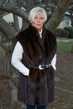 Fabulous Mahogany MINK Fur Jacket Vest XL 14 16 18 - Sable Lynx Fox - #Custom #Vest
