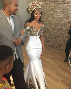 Spiffy Fashion New Zulu bride African traditional dress 2020 - Zulu Traditional Wedding Dresses, Zulu Traditional Attire, South African Traditional Dresses, Traditional Dresses Designs, African Prom Dresses, African Fashion Dresses, African Dress, African Print Wedding Dress, African Wedding Attire