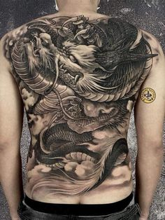 Dragon Tattoo Full Back, Back Tattoo Women Full, Dragon Tattoos For Men, Full Tattoo, Dragon Sleeve Tattoos, Back Tattoos For Guys, Full Back Tattoos, Japanese Dragon Tattoos, Dragon Tattoo Designs