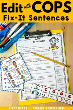 Wouldn't it be great if your students remembered to add capital letters at the beginning of their sentences and punctuation at the end?  COPS will help them do that! Edit Writing with COPS is an engaging, effective way for students to remember how to edit their own writing! These NO PREP Summer-themed stories have three options to allow you to easily differentiate for your students. Perfect for first, second, third grade students. #editwithCOPS Teaching Paragraphs, Paragraph Writing, Teaching Strategies, Teaching Resources, Editing Writing, Writing Process, Primary Classroom, Punctuation, Elementary Education