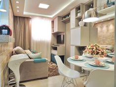 Apartamento de 37 m² em Maringá-PR Projeto da Only Design de Interiores