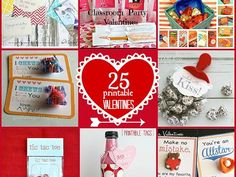 Great Ideas — 25 Free Printable Valentines!!