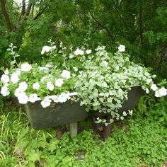 20 Yard Landscaping Ideas to Reuse and Recycle Old Bathroom Tubs for Ponds and Planters – Lushome