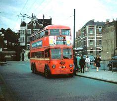 Double decker Trolley Bus, Butterwick bus station, London