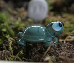 Artisan glass lampwork fairy garden turtle  Shelly  by simplycindy, $12.00
