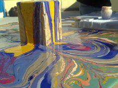 Arte Moderna e Contemporânea: Tall painting - experimental art