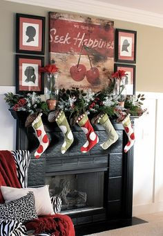 35 Beautiful Christmas Mantels - Christmas Decorating -  #christmas #mantel