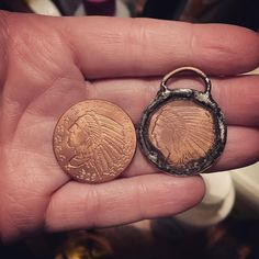 @borneunique Soldered a copper coin into a charm/pendant