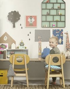 Cute boy and fine styling  See ferm LIVINGS new catalogue here. The small chairs are from Hukit