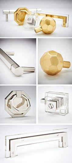 Nest Studio for Insight Hardware, brass, chrome and Lucite handles! @Because It's Awesome: need, want!