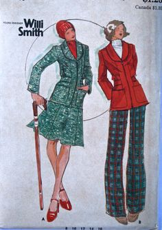 vintage 70's Butterick 3854 Willi Smith RARE by monicacarmel, $16.00