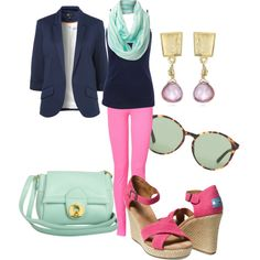 """pink jeans"" by anfernee-131 on Polyvore"