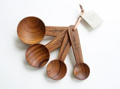 Gorgeous measuring spoons made with plantation farmed wood and no chemical finishes. Aren't they beautiful?  They'd make baking even more soothing and relaxing.