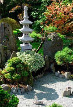 wassergarten Zen Garten Anlegen japanische pflanzen steine ...