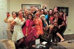 Host an Ugly Dress Party: Love this idea. Everyone wears an ugly dress to dinner -- Taylor Stanley Ellis Wilson Schmeltzer Schoenberg we have to do this! Ugly Dresses, Party Entertainment, Party Time, Party Fun, Girls Night Out, Maid Of Honor, Party Gifts, Party Planning, Dress Party