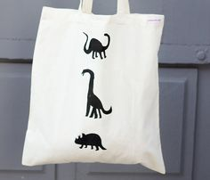 ***DINOS tote bag***   Double sided bag : 1 black side / 1 pink side Hand screenprinted in France (Montreuil) 100% organic cotton 38x42 cm    ©