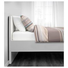 IKEA - ASKVOLL, Bed frame, white, Slatted bed base and mattress sold separately.