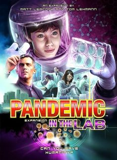 Pandemic : In the Lab Cover Art.  Game to be released late 2013.  This is the newest expansion for Pandemic. One of the greatest Co-op Board Games.