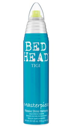 Has great hold and lots of shine, a 2-1 hairspray: Bed Head by TIGI | Products | Styling | Hairsprays | Masterpiece Hairspray