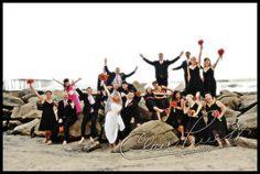 Clair Pruett - fun wedding party pic