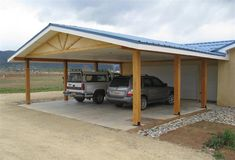 carport ideas | chappell-carport12 Garage Addition, Attached Garage, Attached Carport Ideas, Carport Patio, Carport Plans, Carport Garage, Garage Plans, Car Ports, Carport Designs