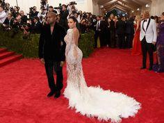 kim kardashian and kanye west at the met gala 2015