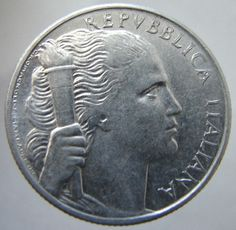 1949 ITALY LIBERTY COIN 5 LIRE
