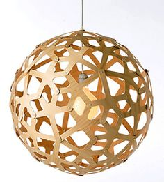 Coral Pendant Wooden Lamp from Design Within Reach.