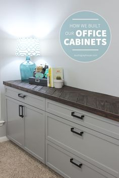 Building Office Cabinets   Gray House Studio