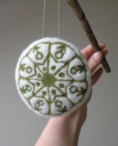 Needle felted ornament