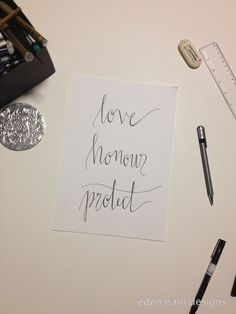 love honour protect Modern Calligraphy Wedding Calligraphy