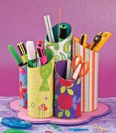 Toilet paper roll crafts, cardboard crafts, diy paper, pen organizer, d Toilet Roll Craft, Toilet Paper Roll Crafts, Cardboard Crafts, Diy Paper, Fun Crafts, Diy And Crafts, Arts And Crafts, Diy For Kids, Crafts For Kids