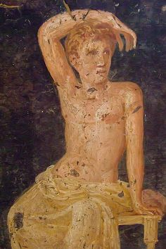 Roman Fresco recovered from Vesuvian ash at Stabiae on the Bay of Naples 1st century BCE - 1st century CE