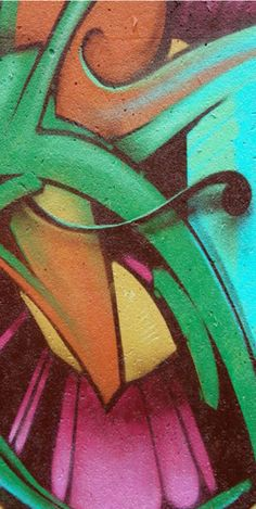 Graffiti Abstract 1 Graphic Art on Wrapped Canvas