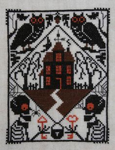Whoo's There Cross Stitch Pattern by Prairie Schooler - one of their small project cards; get it before it's gone