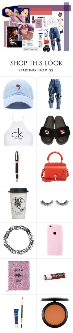 """-Chris"" by taylor-diggy-anon ❤ liked on Polyvore featuring Forever 21, Calvin Klein, Baja East, Montegrappa, Carven, Natural Life, Betsey Johnson, Chapstick, Stila and MAC Cosmetics"