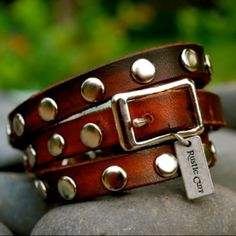 Triple Wrap Leather Brown