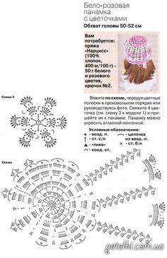 схема детской панамки крючком -- model 44