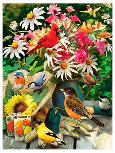 Пазл «Птицы в саду» Cobble Hill