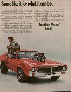 AMC Javelin advertisement promoting aftermarket upgrades