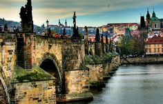 Charles Bridge is a stone Gothic bridge that connects the Old Town and Malá Strana #prague #travel